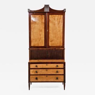 Circa Early 19th Century American Federal Secretary Bookcase