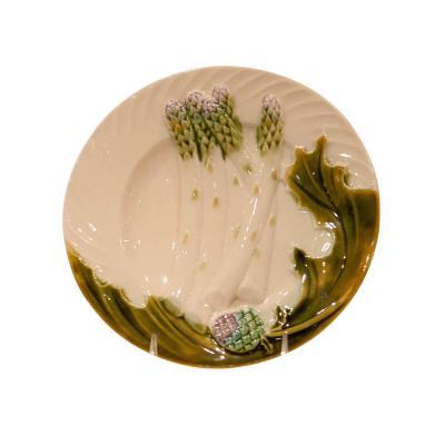 Circa Late 19th Century Antique French Asparagus Artichoke Plate