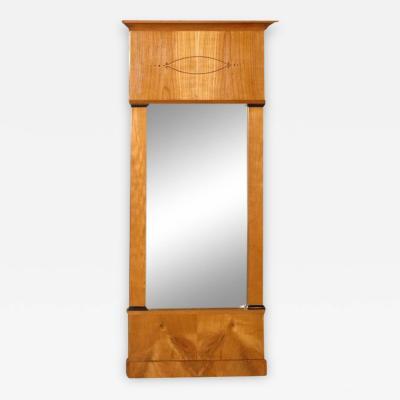 Circa Mid 18th Century Biedermeier Satin Birch Mirror Germany
