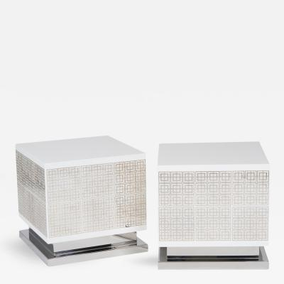 Circuitry Cube Side Table