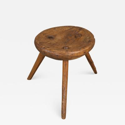 Circular 19th Century Large Milking Stool