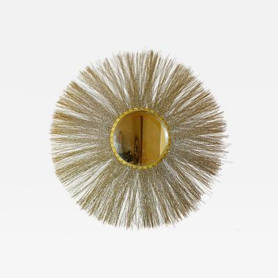 Circular brass mirror Italy 1960s