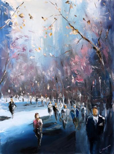 City of Sakura Painting by Piskunov