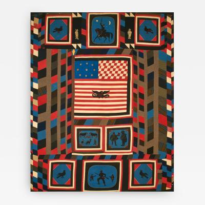 Civil War Quilt of Zouave Uniform Fabrics