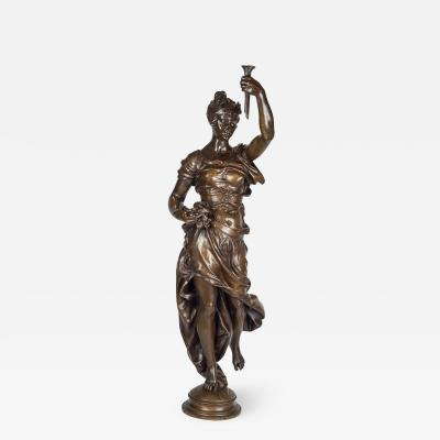 Cl ment L opold Steiner A Monumental Patinated Bronze Allegorical Sculpture