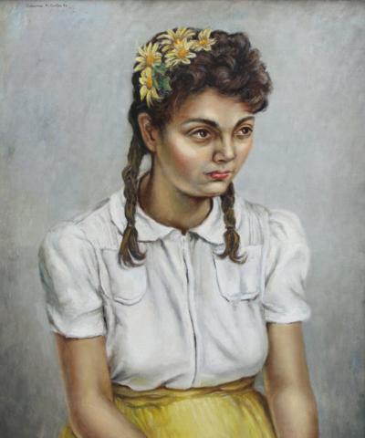 Clarence Holbrook Carter Pensive Girl Phyllis