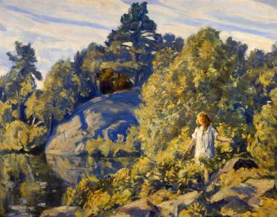 Clarence Kerr Chatterton GIrl by the Pond