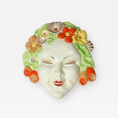 Clarice Cliff Clarice Cliff bizarre Art Deco mask of Flora England