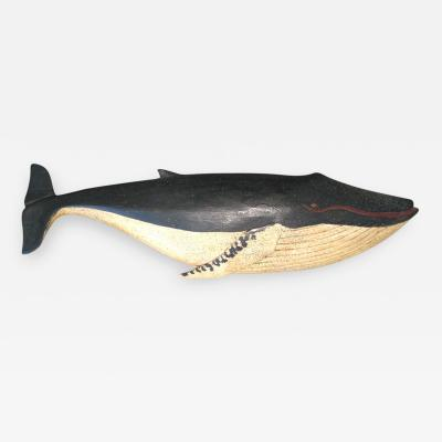 Clark Voorhees Carved and painted Humpback Whale by Clark Voorhees