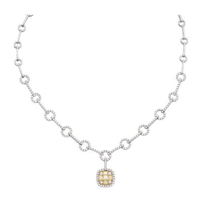 Classic 14k Gold and Yellow Diamond Necklace