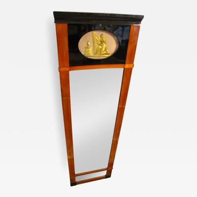 Classic Biedermeier Trumeau Mirror Cherry South Germany circa 1820