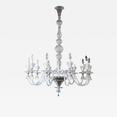 Classic Clear Murano Glass Chandelier