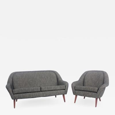 Classic Scandinavian Modern Sofa Chair Set