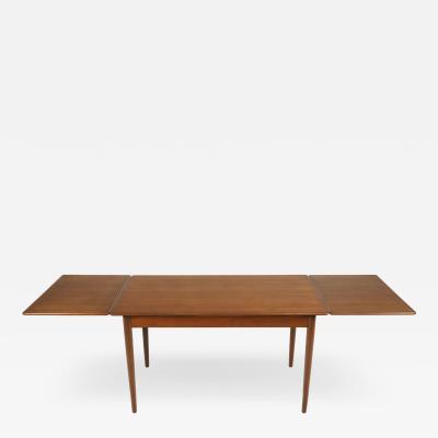 Classic Scandinavian Modern Teak Draw Leaf Dining Table