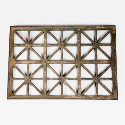 Classical Cast Iron Grille with Great Patina