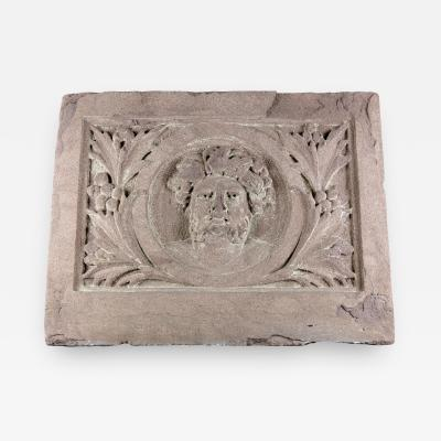 Classical Style Brownstone Plaque Architectural Fragment