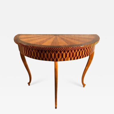 Classicist Demi Lune Table ca 1800