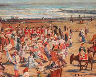Claude Cahill Cooper French Beach Scene