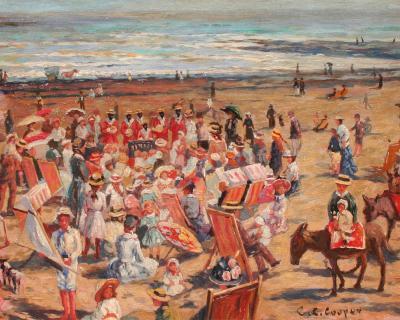 Claude Cahill Cooper French Beach Scene