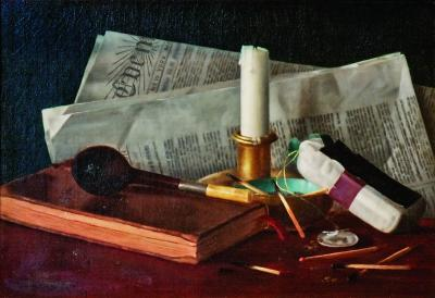 Claude Claudine Raguet Mrs W C Fitler Hirst Still Life with Newspaper Pipe