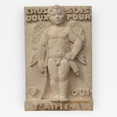 Claude Fraisse Art Deco Plaster Relief