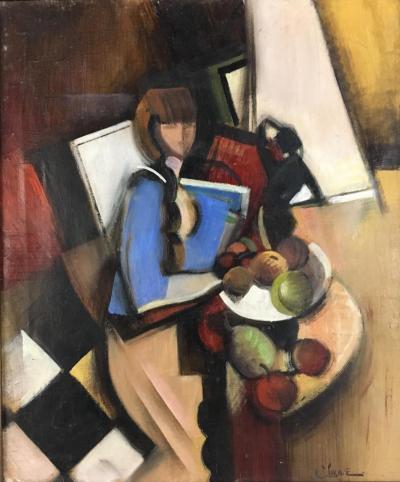 Claude Lacaze Femme Avec des Fruits