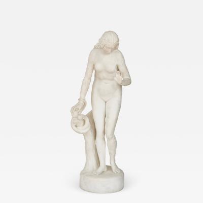 Claude Michaud Eve Biblical marble figure by Claude Michaud
