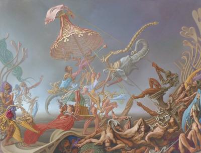 Claudio Bogino Claudio Bogino Surrealist Oil on Canvas Teatro Universal