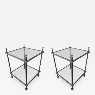 Claudio Rayes Pair of Claudio Rayes Iron Side Tables