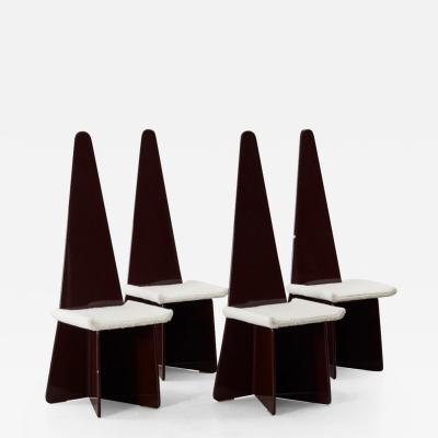 Claudio Salocchi Claudio Salocchi lacquered chairs Sormani Italy 1972