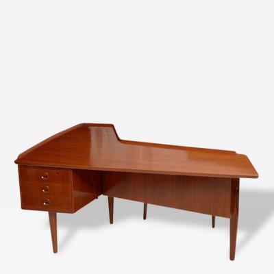Claudio Salocchi Italian Modern Boomerang Desk