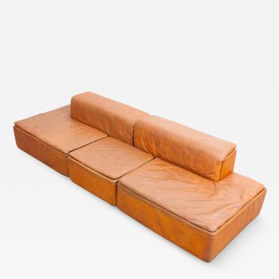 Claudio Salocchi Modular Set of Paione Leather Sofa s by Claudio Salocchi for Sormani