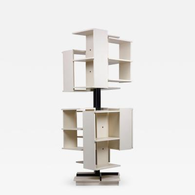 Claudio Salocchi Rotating Wooden Bookshelf by Claudio Salocchi for Sormani Italy