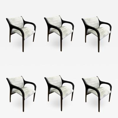 Claudio Salocchi Set of Six Claudio Salocchi Dining Chairs