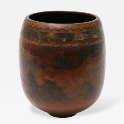 Claudius Linossier Dinanderie Vase by Claudius Linossier