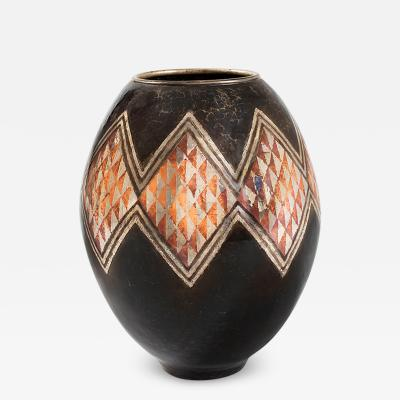 Claudius Linossier French Art Deco Vase by Claudius Linossier