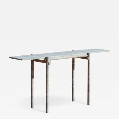 Clement Brazille Original Ocean Travertine Console by Clement Brazille