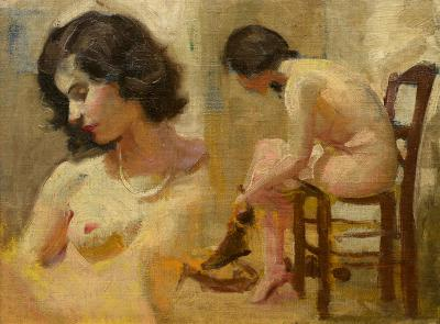 Clement H Donshea Nude Study