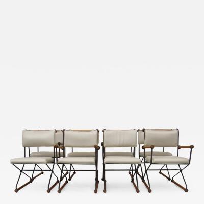 Cleo Baldon 8 Cleo Baldon Chocolate Lacquer Wrought Iron Chairs C 1966