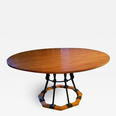 Cleo Baldon Cleo Baldon Circular Dining Table for Terra Venice California late 1960s