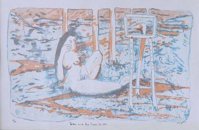Clifton Pugh Leda and the Swan II Lithograph