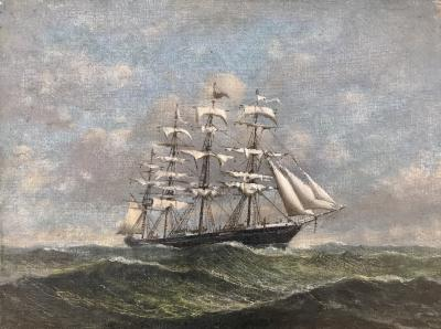 Clipper in High Seas
