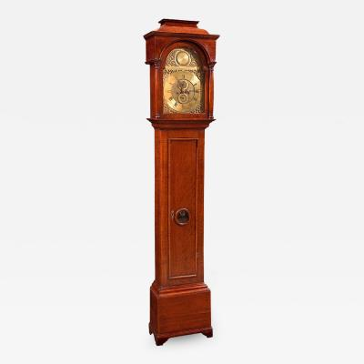 Clock Tall Case English Oak 18th Century