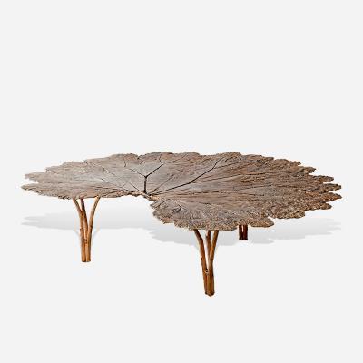 Clotilde Ancarani GUNERA Bronze coffee table with golden patina