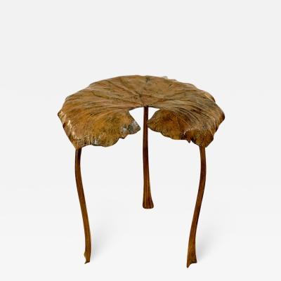 Clotilde Ancarani TONDO Bronze stool with brown patina