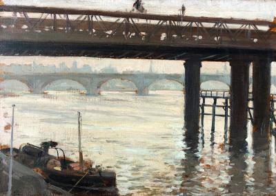 Clovis Francois Auguste Didier Along the Thames