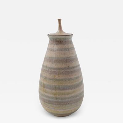 Clyde Burt Clyde Burt Ceramic Vase with Lid