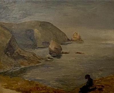 Coastal Painting American Circa 19th Century
