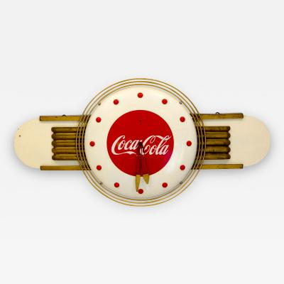 Coca Cola Art Deco Style Wall Clock