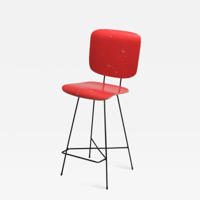 Coen de Vries Dutch modernist stool by Coen De Vries 1950s